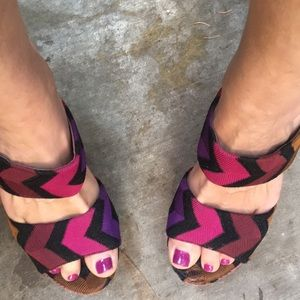 Missoni platforms, size 8( 38.5)